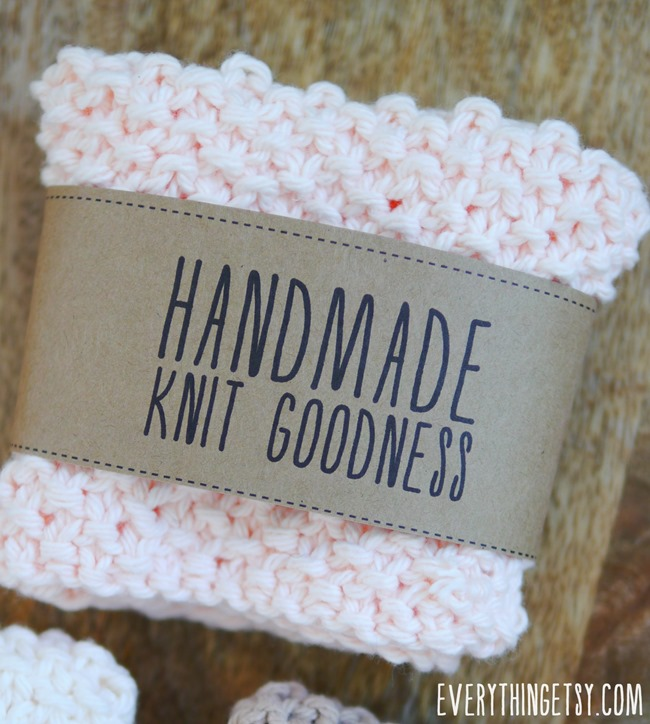 Handmade Knit Goodness Labels - Free Printables on EverythingEtsy.com