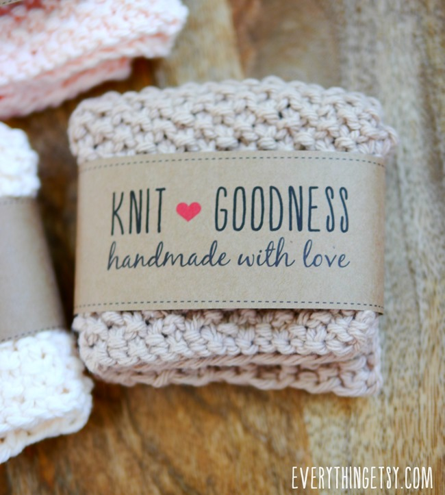Knit Goodness Handmade Printable Labels - EverythingEtsy.com