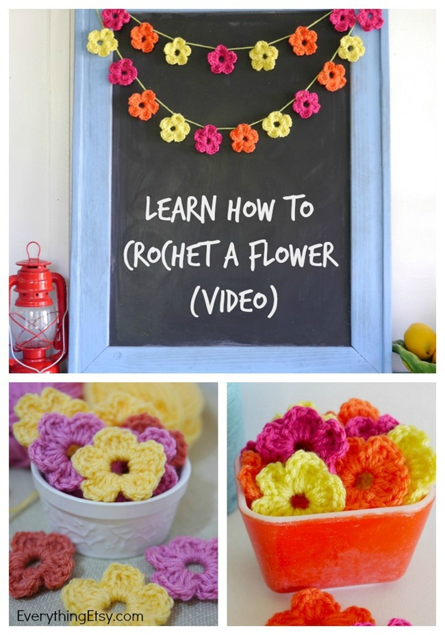 Learn How to Crochet a Flower Video on EverythingEtsy.com