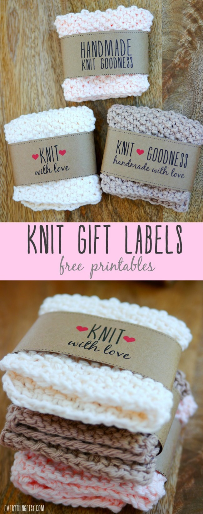 Scarf Knitted Patterns : Free Printable Knit Gift Labels Everything Etsy Bloglovin
