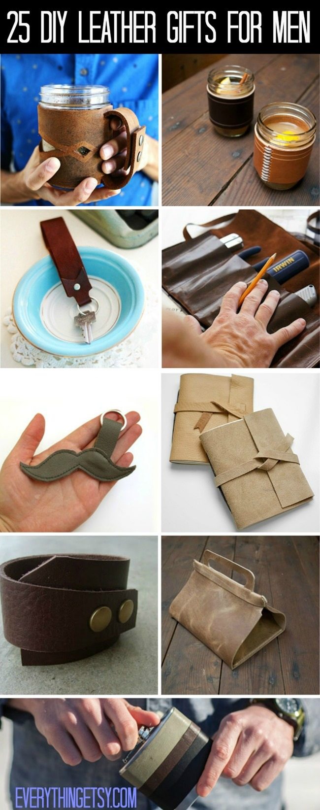 mens craft ideas 25 diy leather gifts for everythingetsy 2407