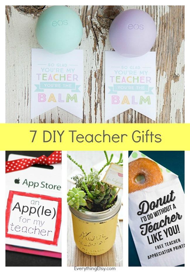 7 DIY Teacher Gifts & Printables on EverythingEtsy.com