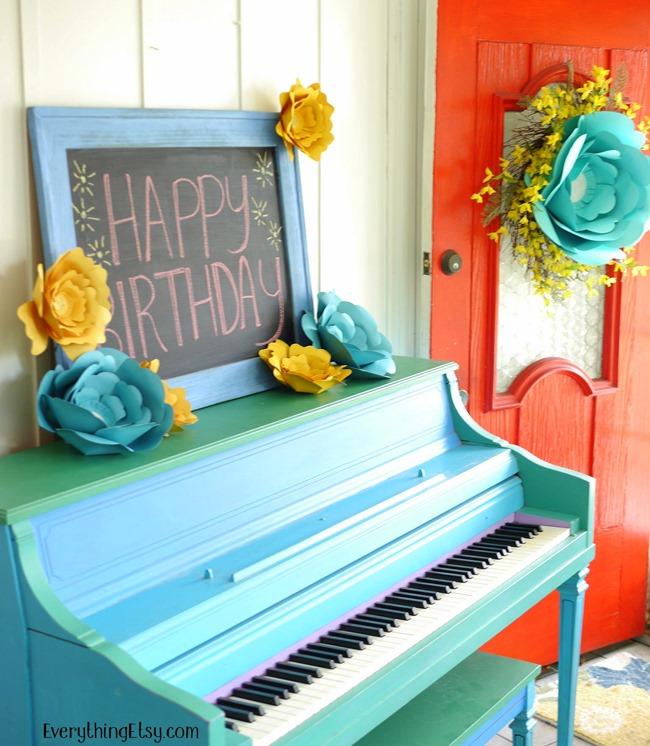Birthday Party DIY Paper Flowers on EverythingEtsy.com