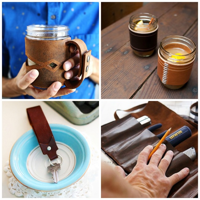 DIY Leather GIfts for Men - 25 awesome tutorials on EverythingEtsy.com
