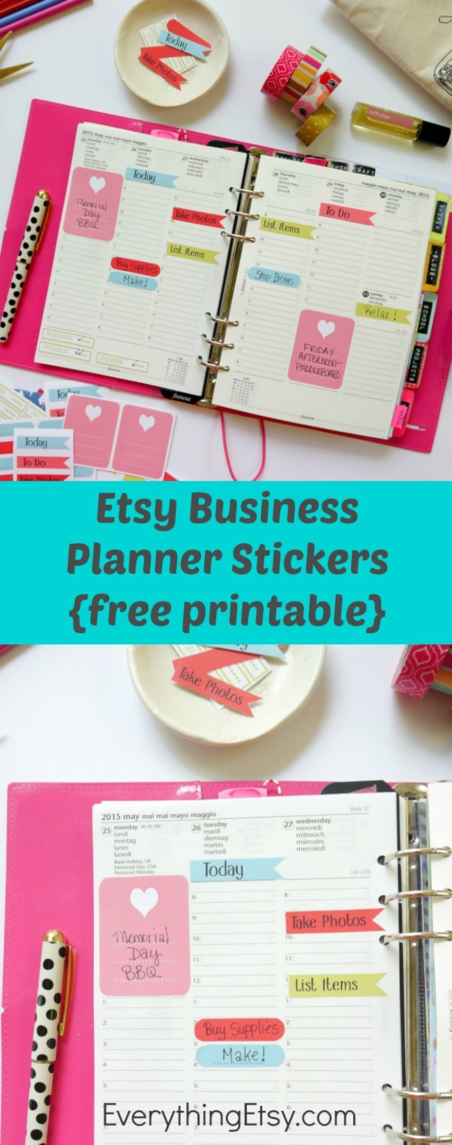 Etsy Business Planner Stickers - Free Printable for Filofax on ...