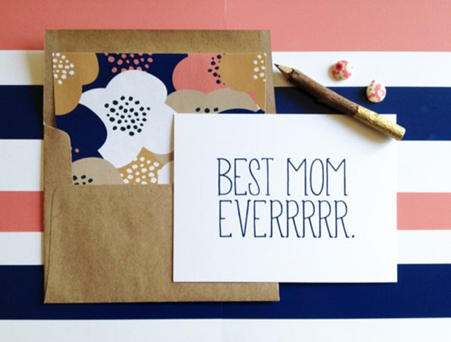 Mother's Day card on Etsy