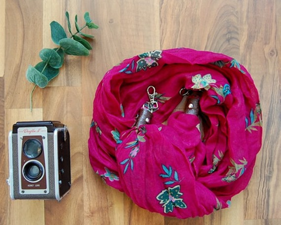 Mother's Day gift on etsy - scarf camera strap