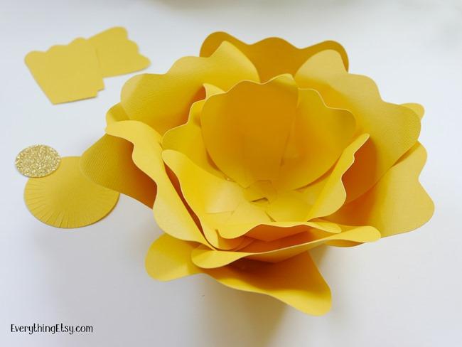 Next Step DIY Paper Flower on EverythingEtsy.com