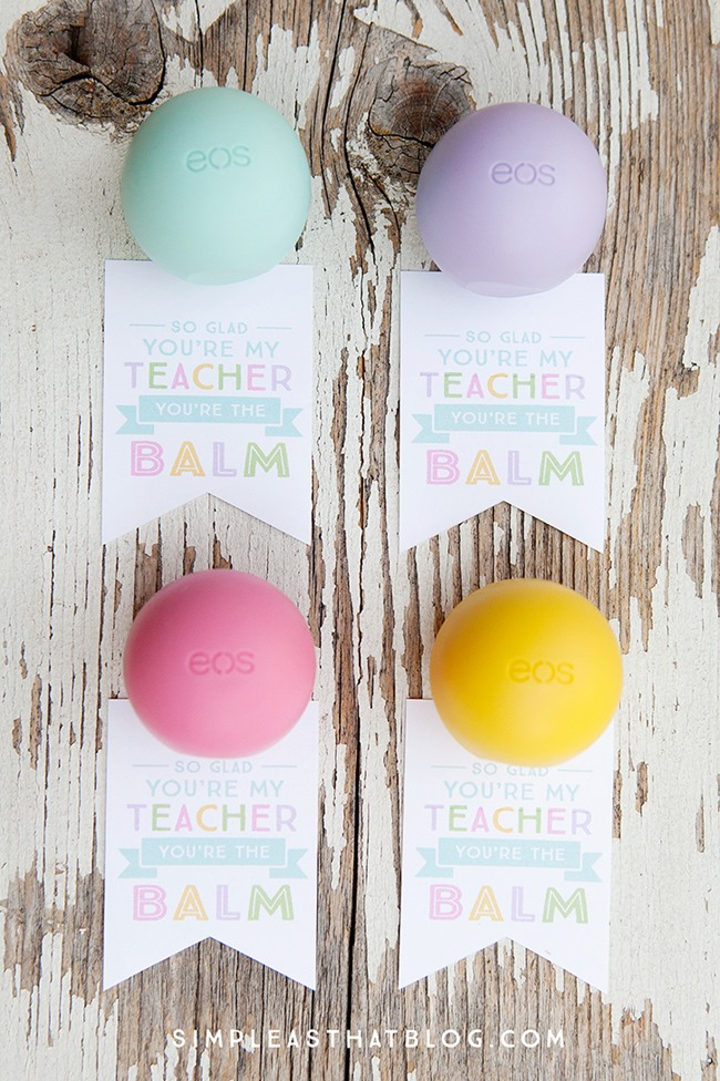 Teacher Gift Lip Balm Printables