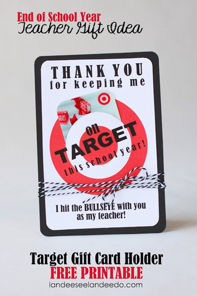 Teacher Target Gift Card Printable