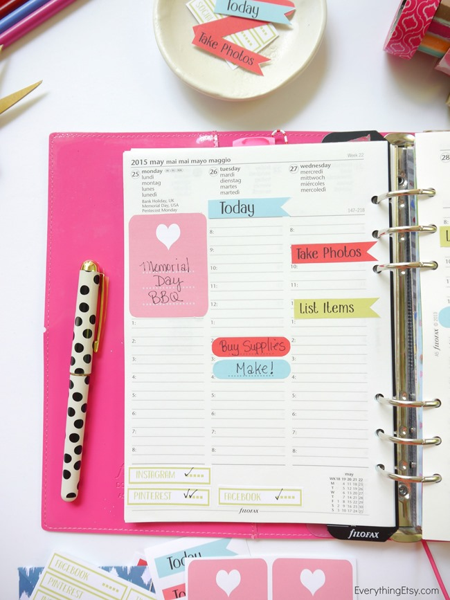 free Filofax planner sticker printable on EverythingEtsy.com