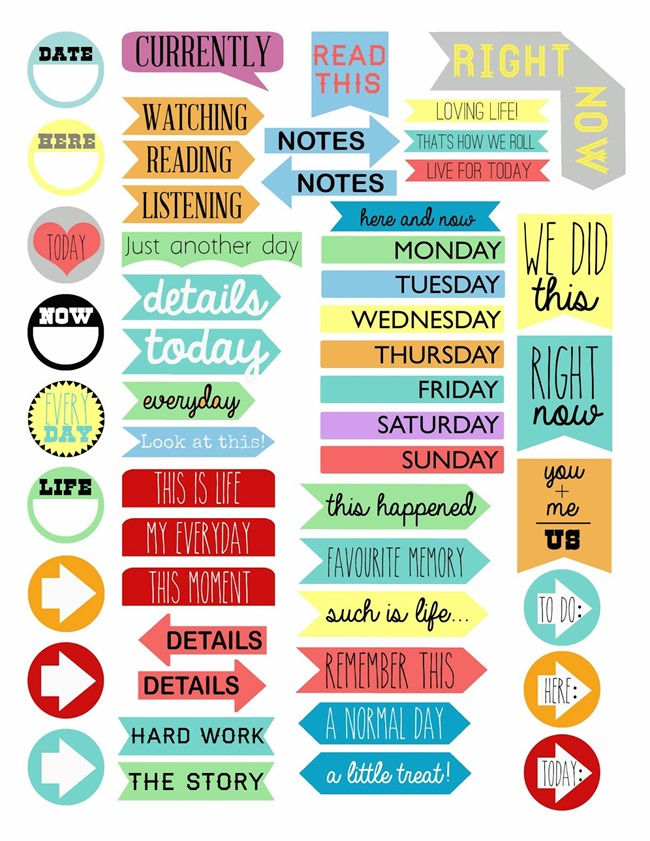 graphic regarding Free Printable Food Planner Stickers identified as 16 Free of charge Planner Printables -