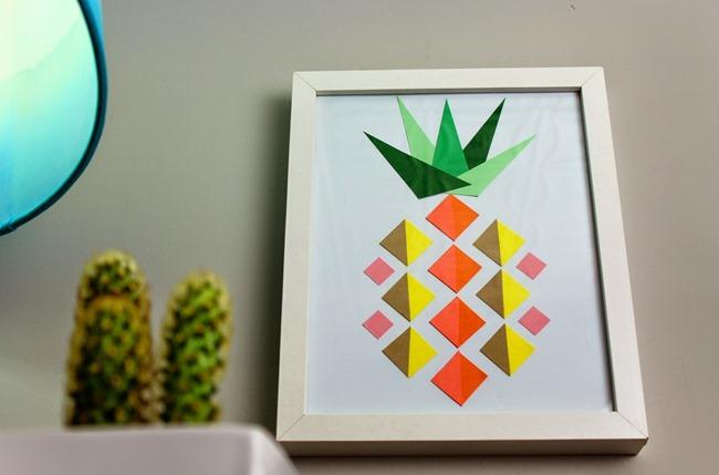 DIY Geometric Pineapple Art