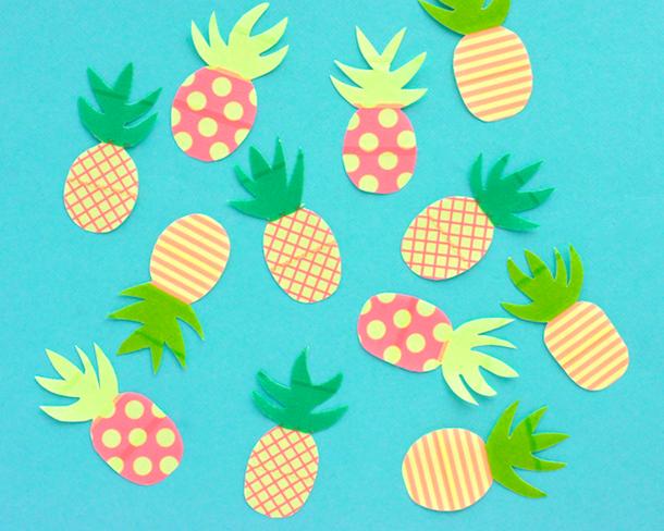 DIY Paper Washi Pineapples