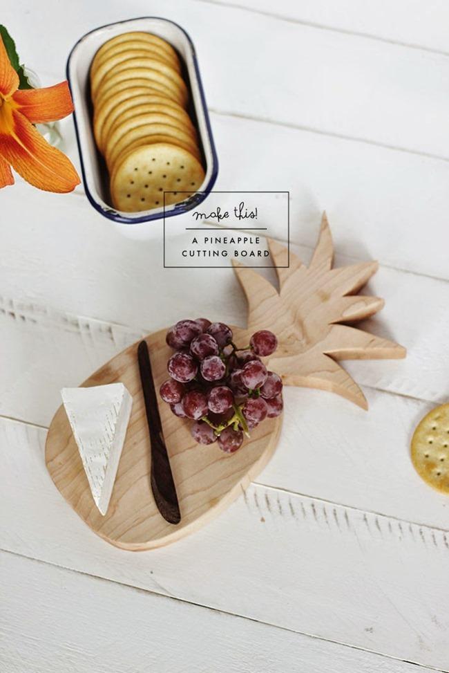 DIY Pineapple Craft - Cutting Board