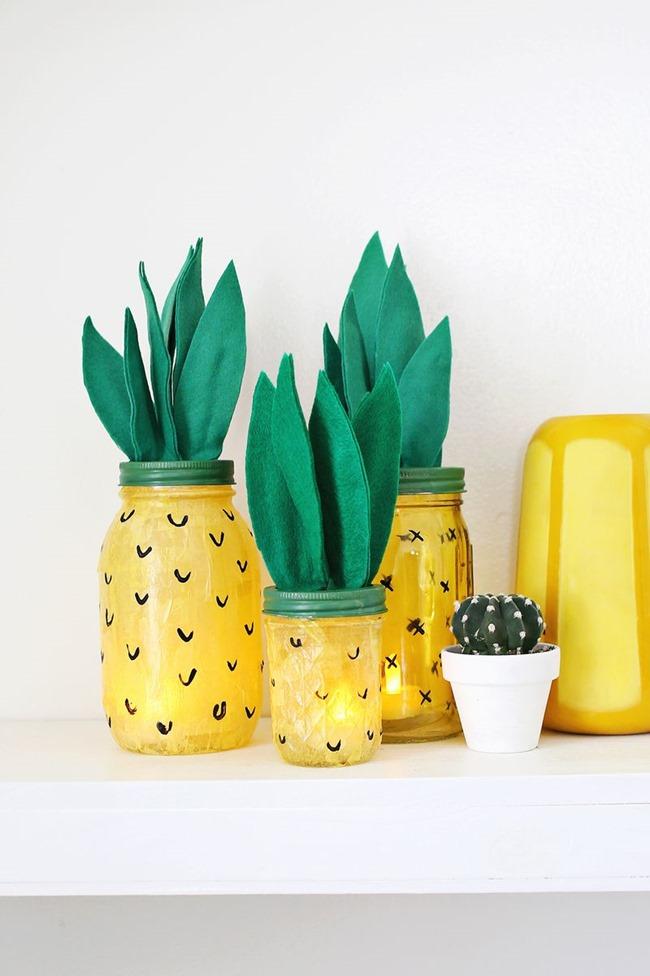 DIY Pineapple Jars