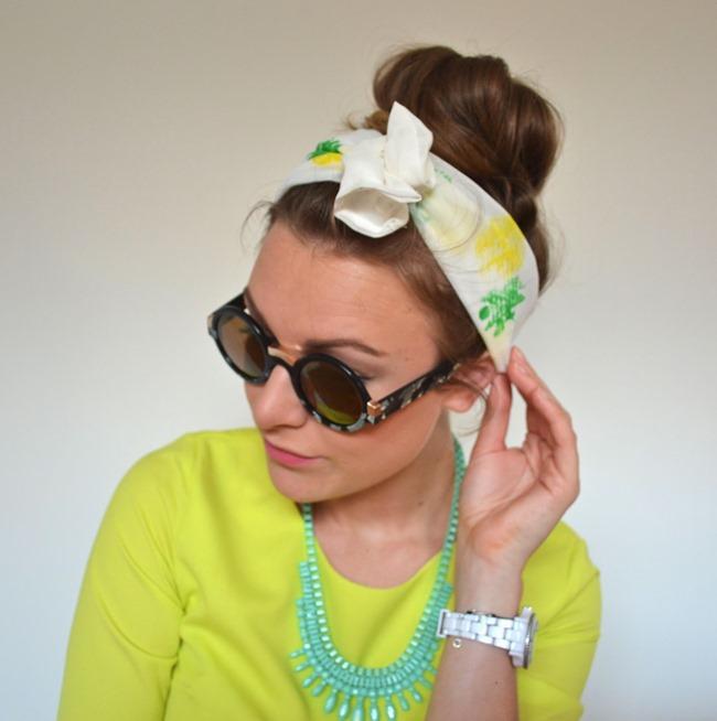 DIY Pineapple Print Headband Tutorial