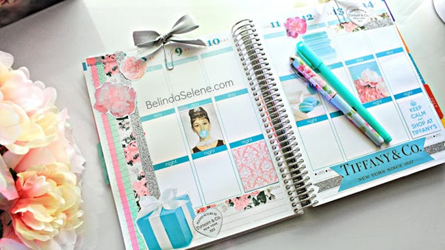Free Printable Planner Stickers - TIffany Inspired