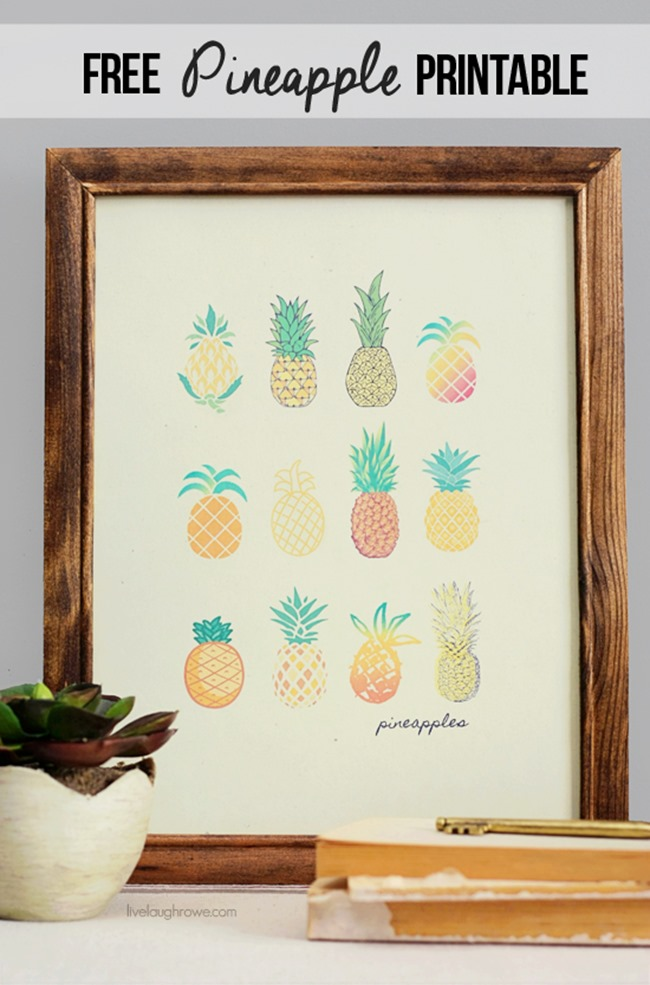 25 Pineapple Crafts Free Printables Diy Goodness