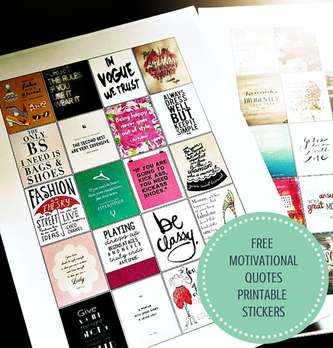 Free planner printable motivational quotes
