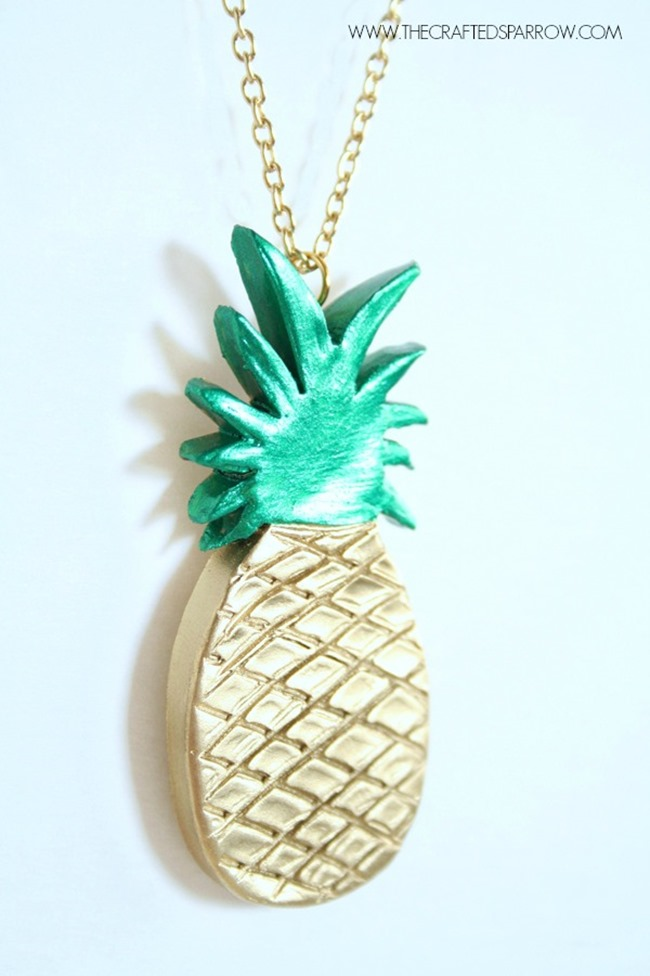 Pineapple Necklace - DIY Clay