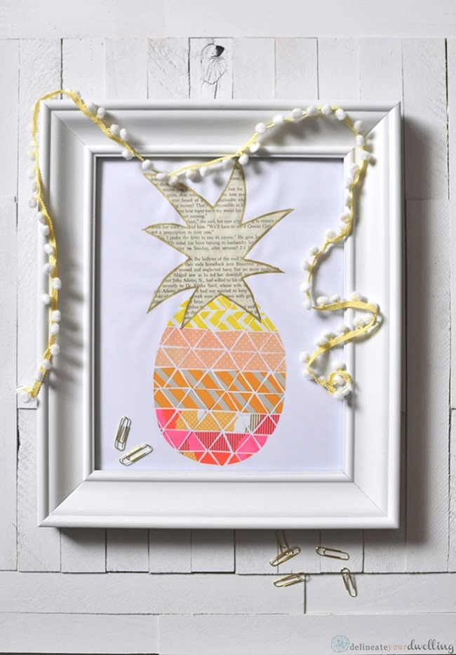 Pineapple Washi Tape Print
