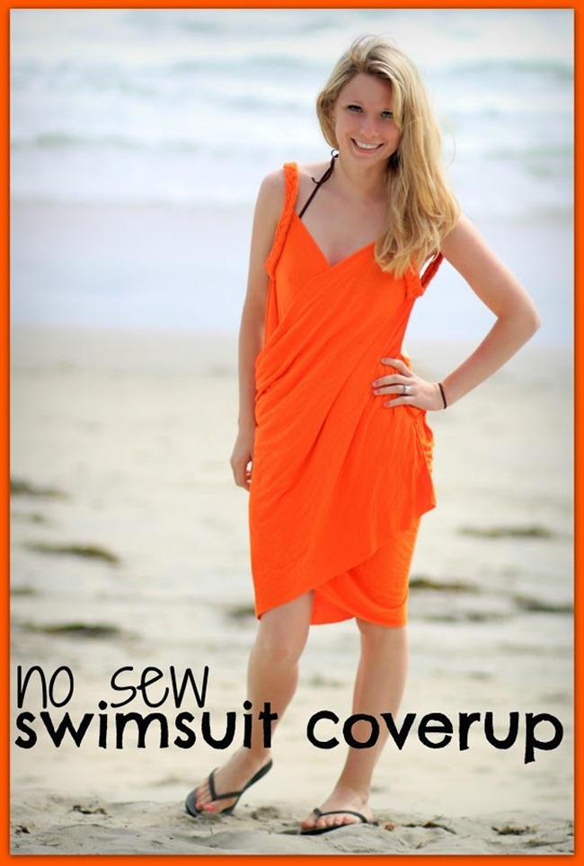 bathing suit cover up no sew tutorial