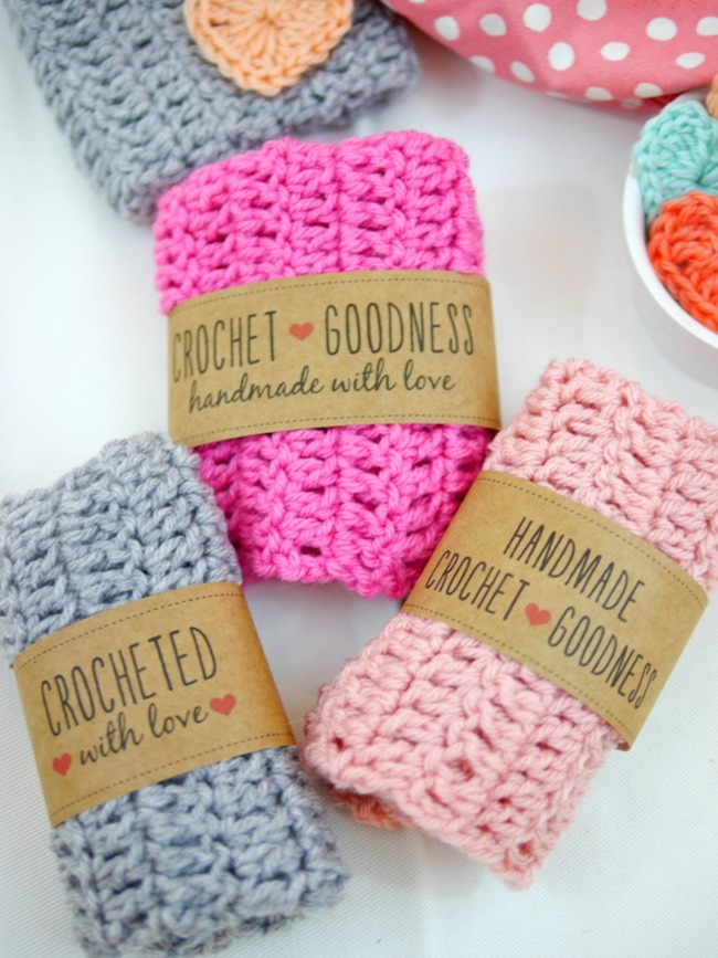 crochet gift labels - free