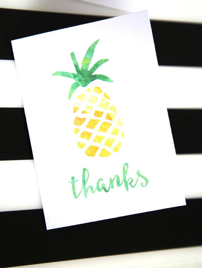 pineapple printable card