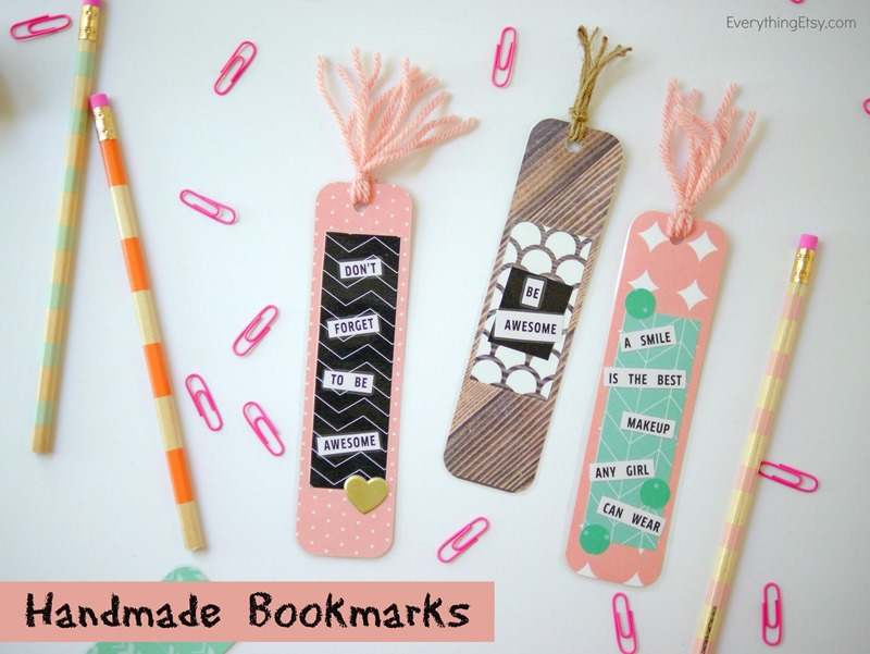 handmade bookmarks everythingetsycom amazing cool bookmarks diy design ideas - Bookmark Design Ideas