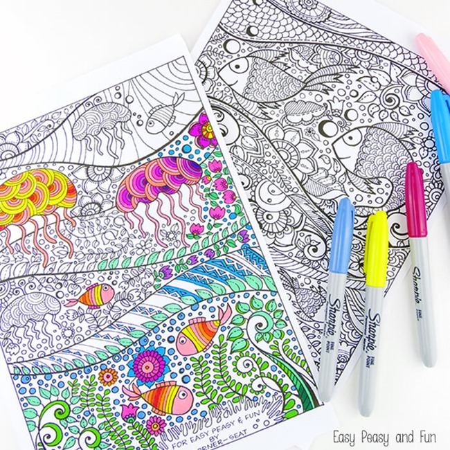 adult coloring pages ocean - Free Easy Coloring Pages