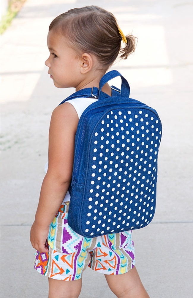 DIY Polka Dot Backpack