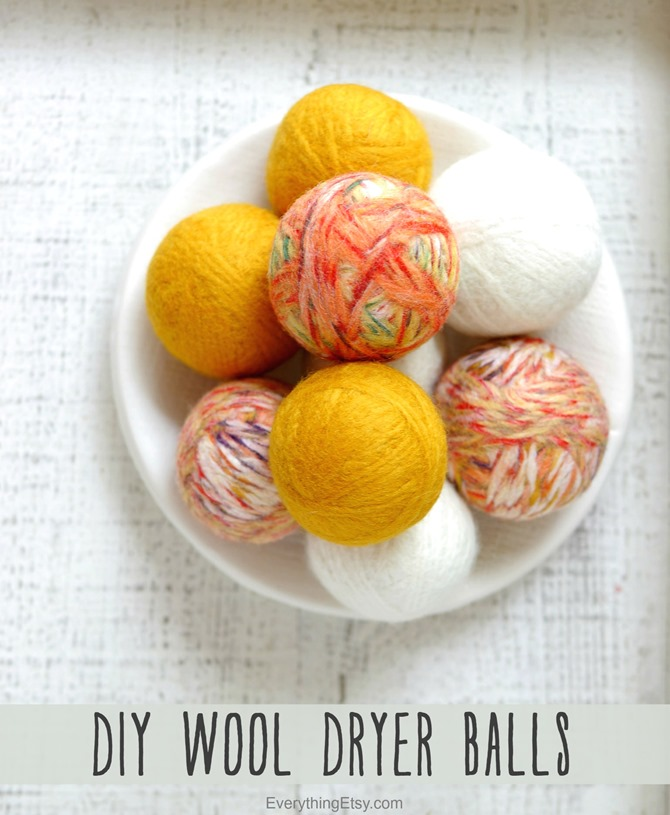 DIY Wool Dryer Balls and All Natural Laundry Tips on EverythingEtsy.com