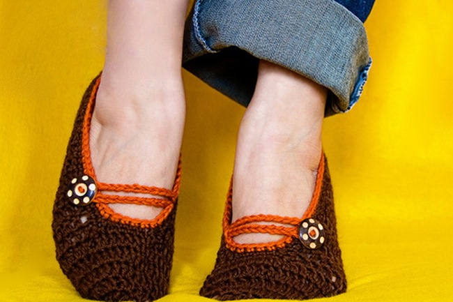 Mary Jane Slipper Crochet Pattern