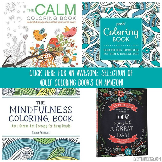 Selection Of Adult Coloring Books On Amazon