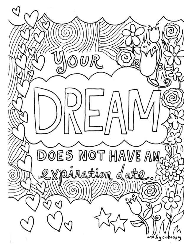adult coloring pages dream