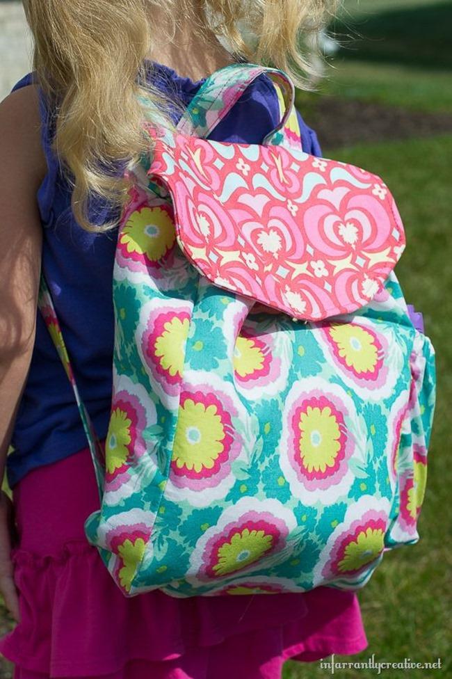 colorful school backpack sewing tutorial