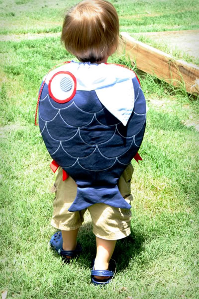 fish backpack diy