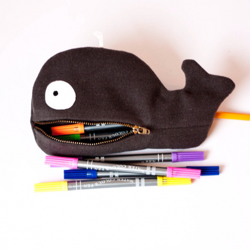 whale pencil case sewing tutorial
