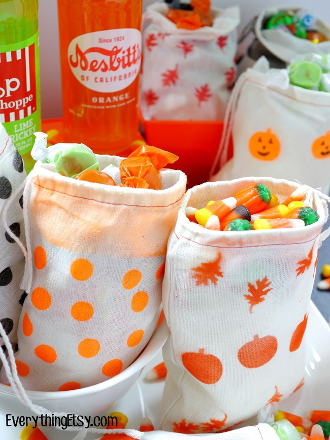DIY Airbrush Fall Treat Bags on EverythingEtsy.com
