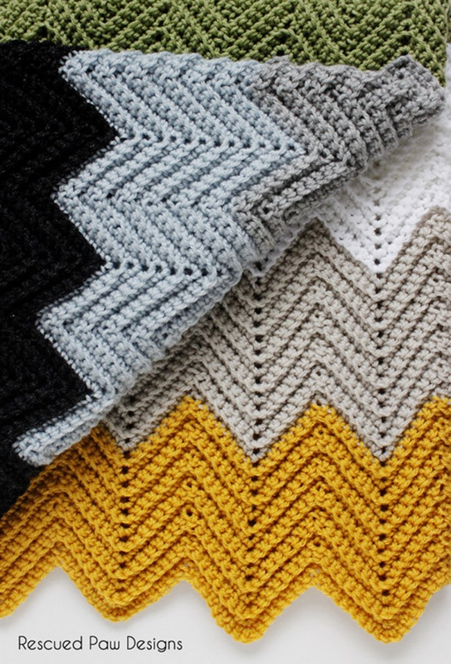 Crochet Stitches Chevron : Free Crochet Throw Patterns - Chevron