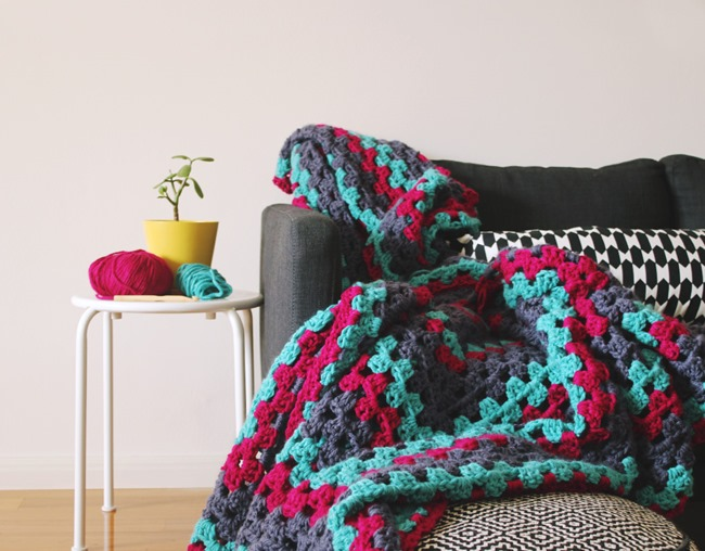 Free Crochet Throw Patterns - Giant Granny Square