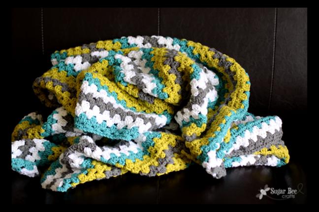 Free Crochet Throw Patterns - Granny Stripe
