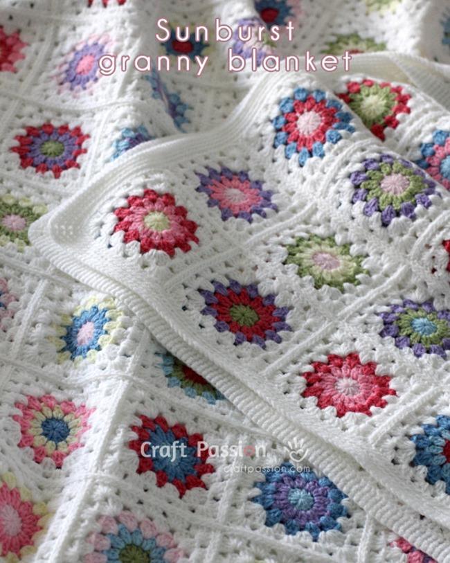 Free Crochet Throw Patterns - Sunburst