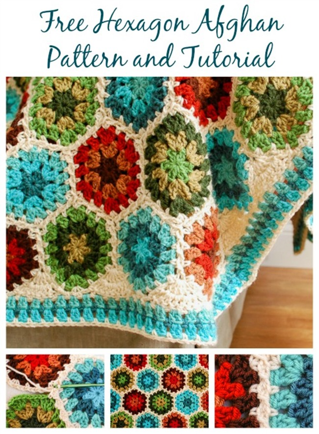 Free Crochet Throw Patterns - hexegon