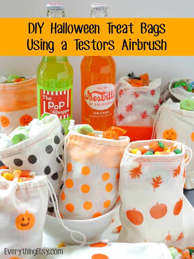 Testors Airbrush DIY Halloween Treat Bags...fun! - EverythingEtsy.com