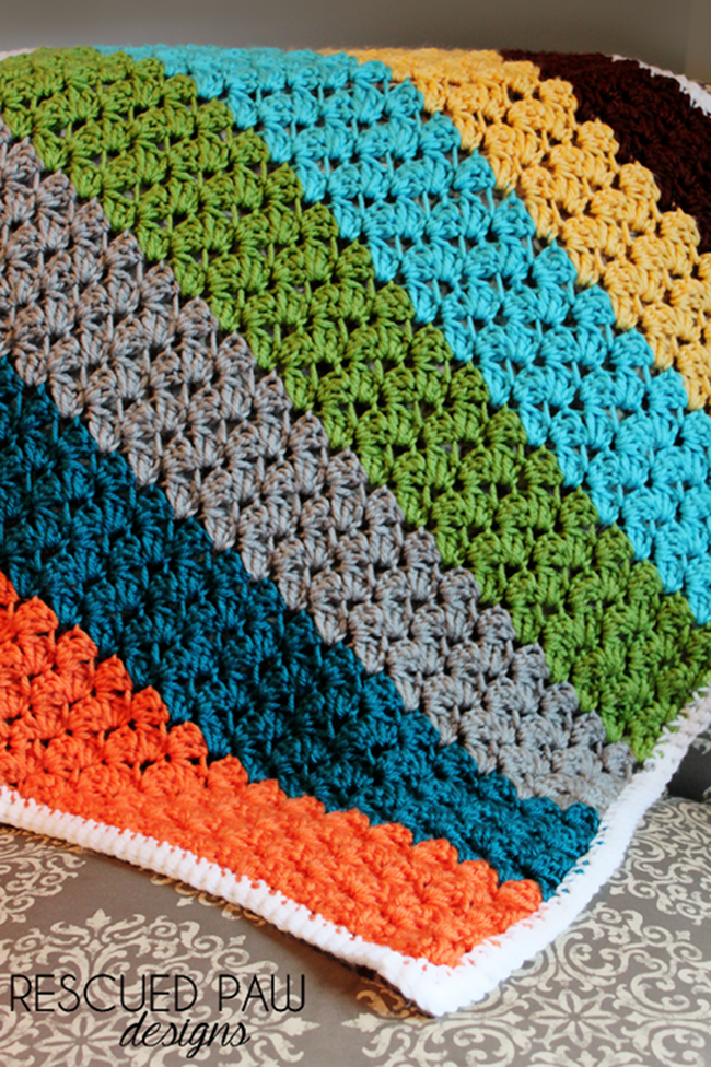 Free Crochet Patterns Throws Blankets : Free Crochet Throw Patterns {DIY Goodness}