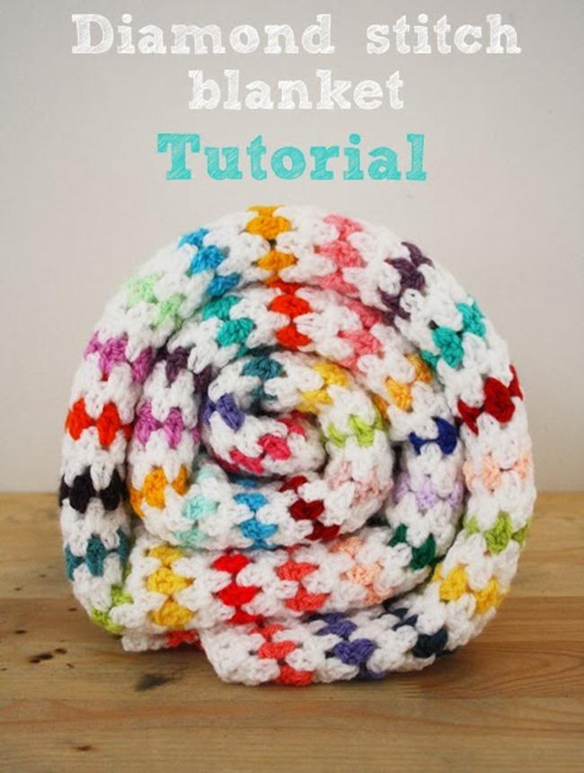 free crochet throw patterns - diamond stitch