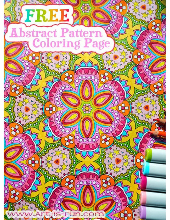 Free coloring pages for adults - abstract