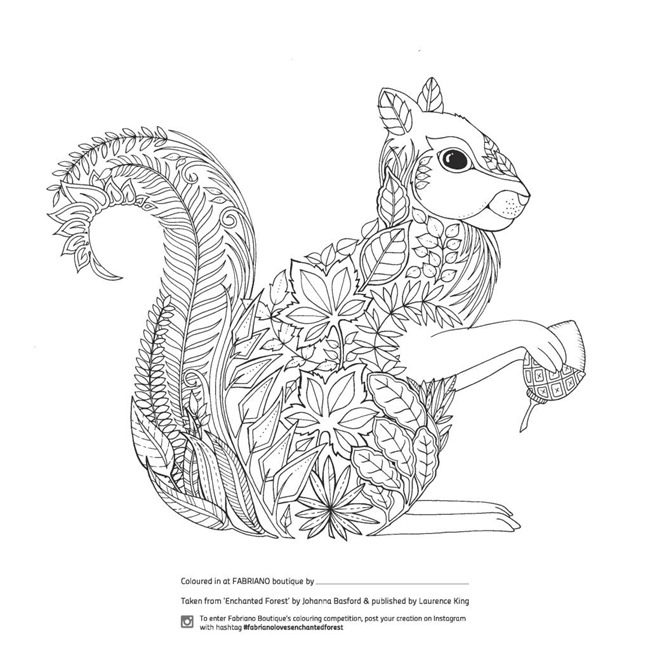 Printable coloring pages for adults - forest